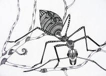 Green Tree Ant - 30x40cm original drawing £180