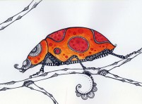 Ladybird - original drawing 20x15cm SOLD