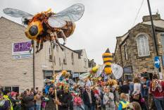 Bee, done with children for skipton puppet festival 2015