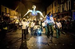 Swan lantern puppet - Lamplighter festval 2015