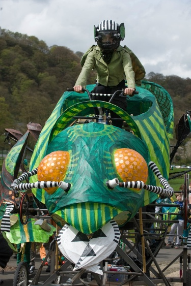 Cycle Beetle at the Fantastical Cycle parade, for the Yorkshire festival 2014