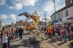 Pirate seagull cycle float, for Spareparts festival 2015