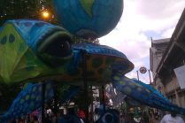 World turtle at the Manchester Day Parade 2014