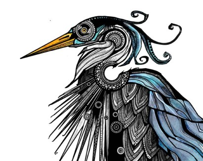 Slightly offended Heron - prints available