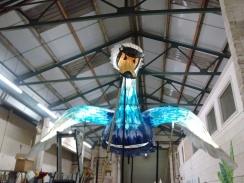 Swan puppet inside